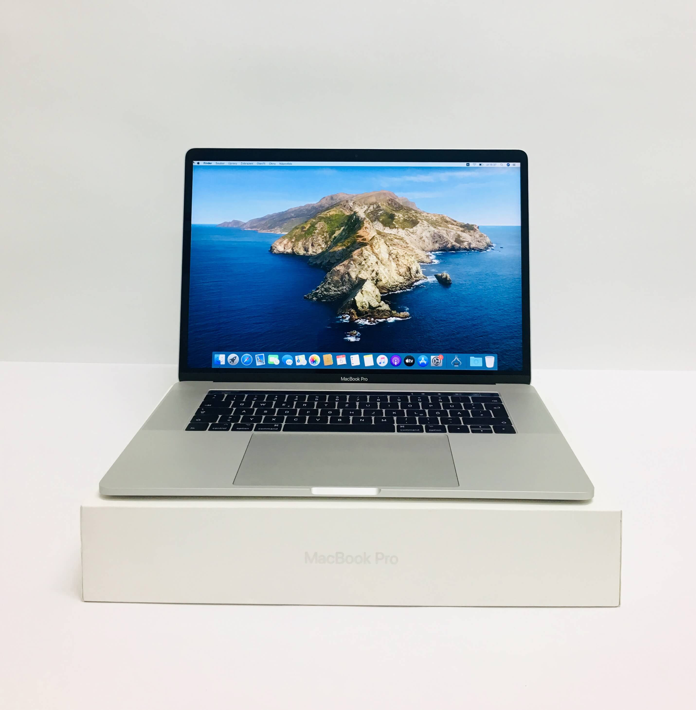 Macbook Pro 15'' Touch Bar, Silver, i7, rok 2017, 16GB RAM, 512GB SSD