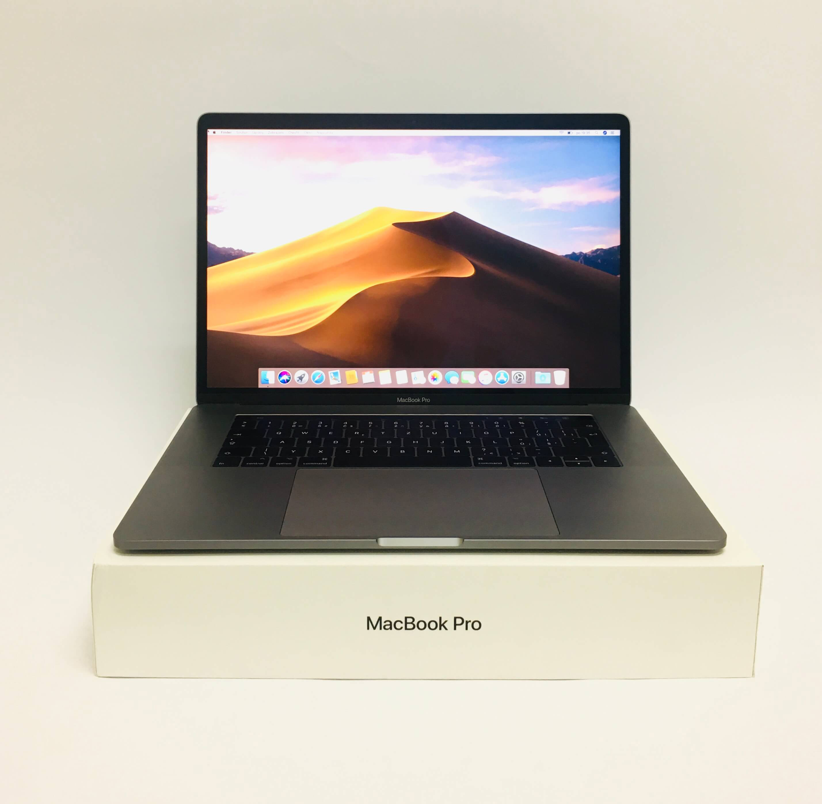 MacBook Pro 15'' Touch Bar, Space Gray, i7, rok 2017, 16GB RAM, 512GB SSD